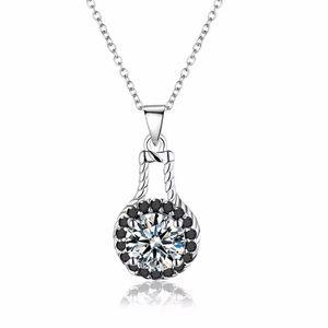 Black Spinal& Sterling Silver Necklace 10499